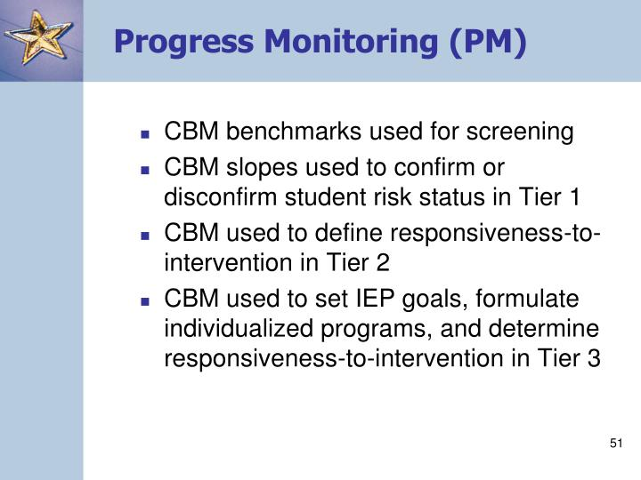 Progress Monitoring (PM)