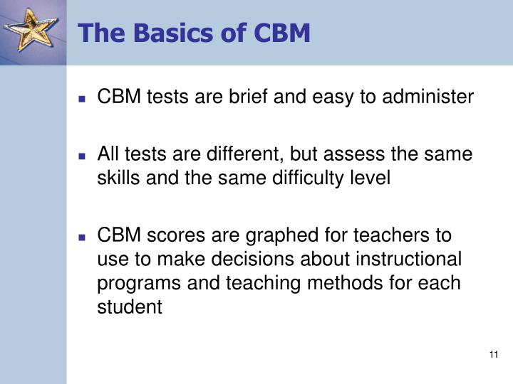 The Basics of CBM