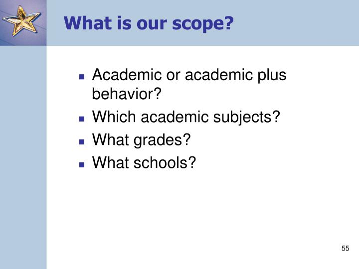 What is our scope?