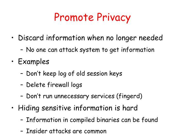 Promote Privacy