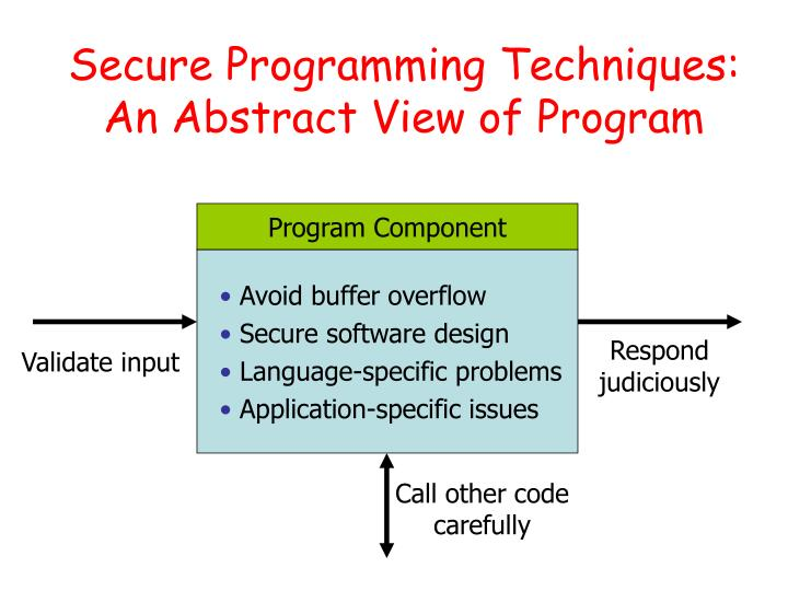 Secure Programming Techniques: An Abstract View of Program