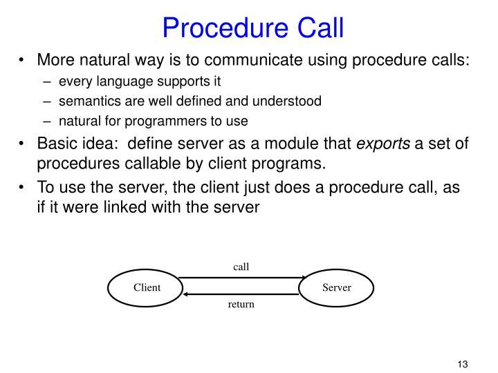 Procedure Call