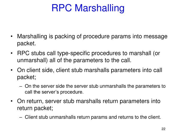 RPC Marshalling