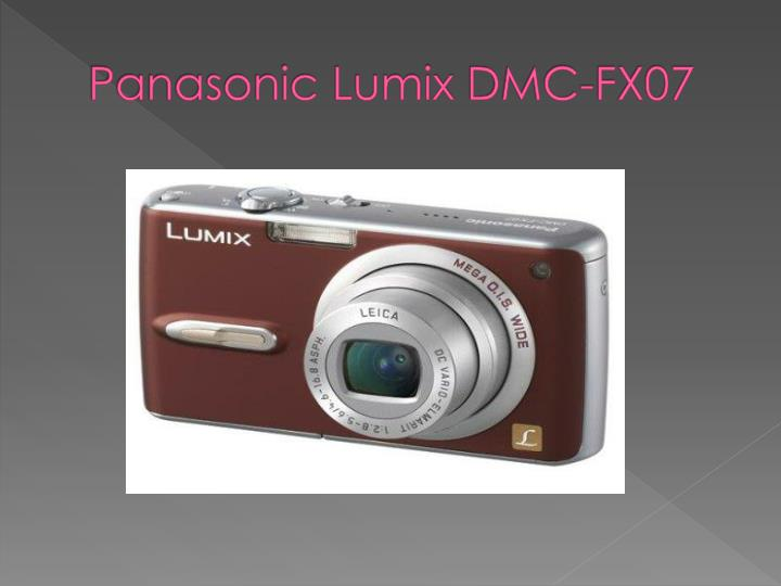 Panasonic lumix dmc fx071
