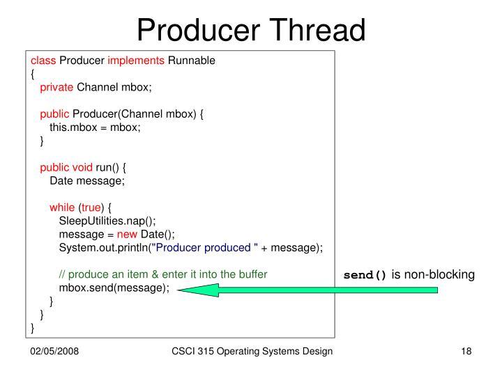 Producer Thread