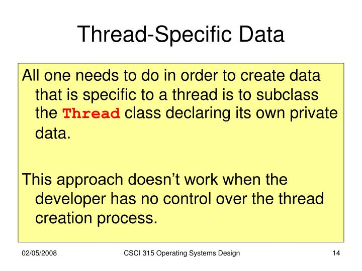 Thread-Specific Data