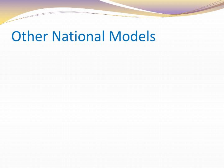Other National Models