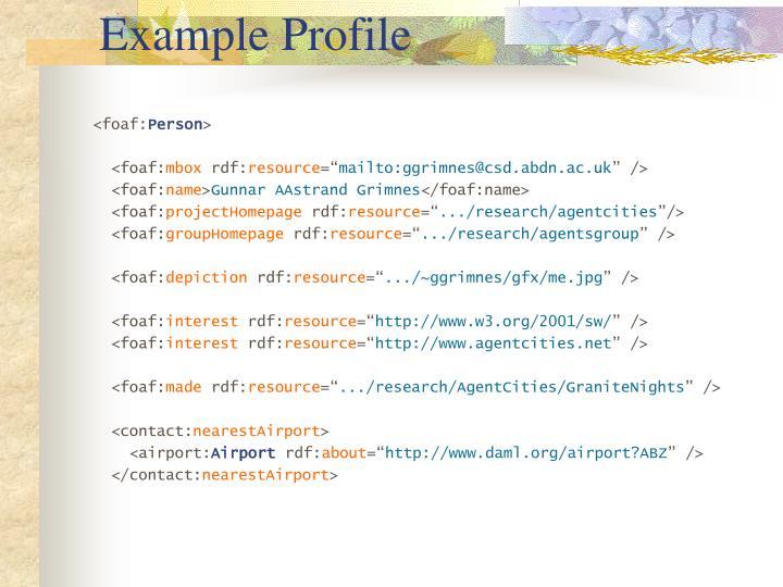 Example Profile