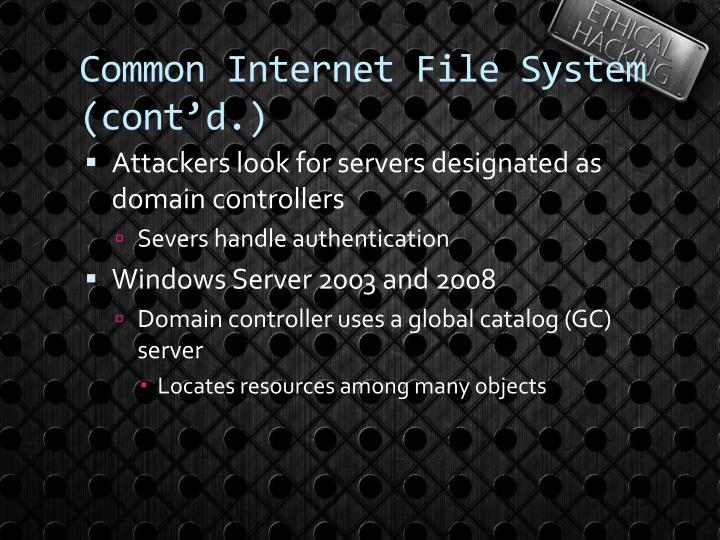 Common Internet File System (cont'd.)