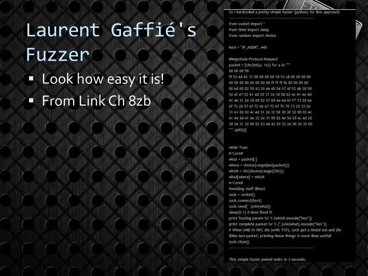 Laurent Gaffié's Fuzzer