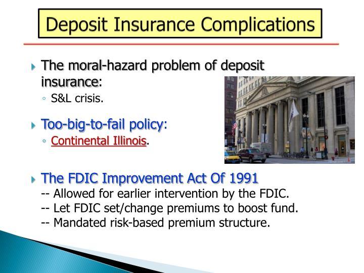 Deposit Insurance Complications