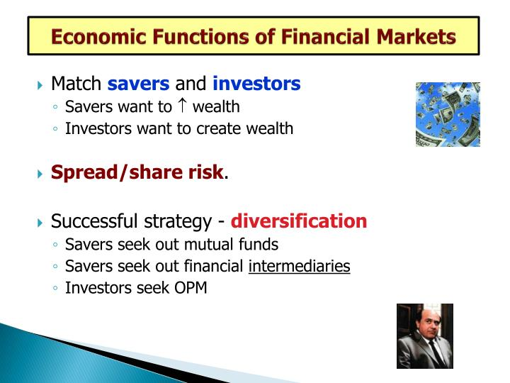 Economic Functions of Financial Markets