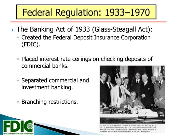 Federal Regulation: 1933–1970