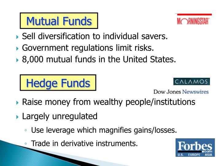 Sell diversification to individual savers.