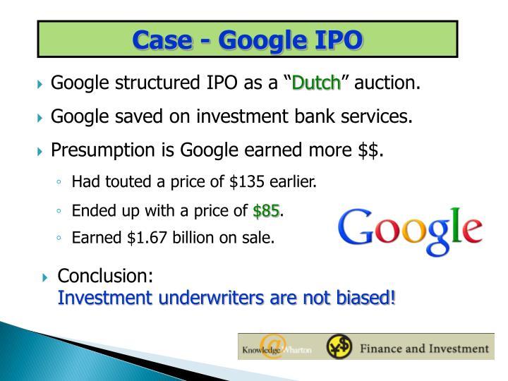 Case - Google IPO