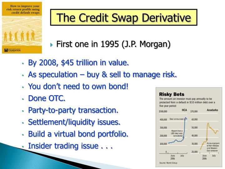 The Credit Swap Derivative