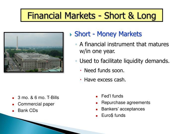 Financial Markets - Short & Long