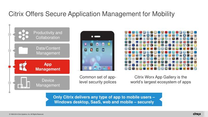Citrix Offers Secure Application Management for Mobility