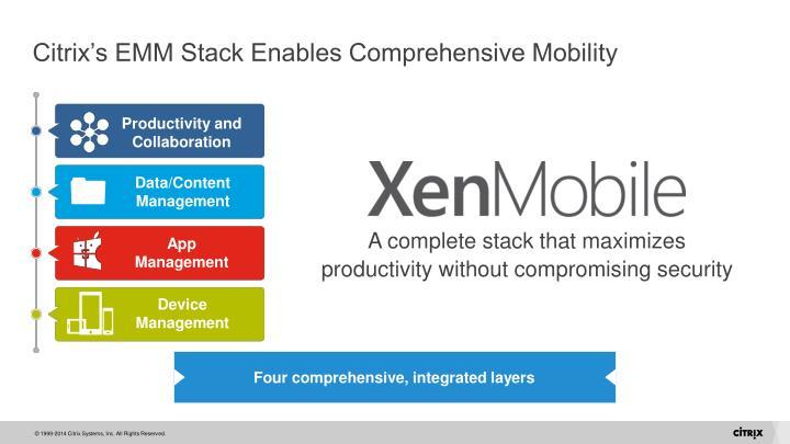 Citrix's EMM Stack Enables Comprehensive Mobility