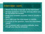 interview cont1