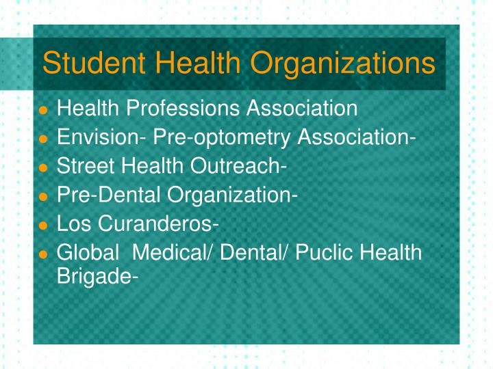 Student Health Organizations