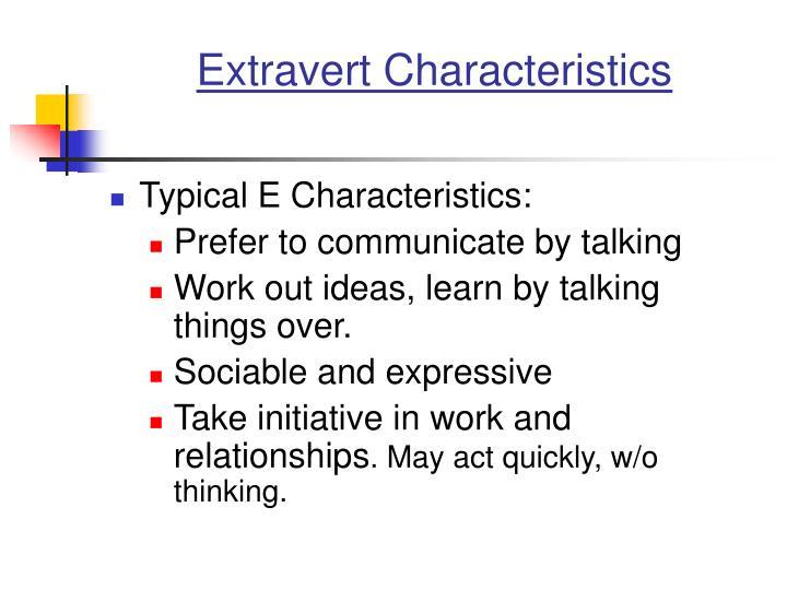 Extravert Characteristics