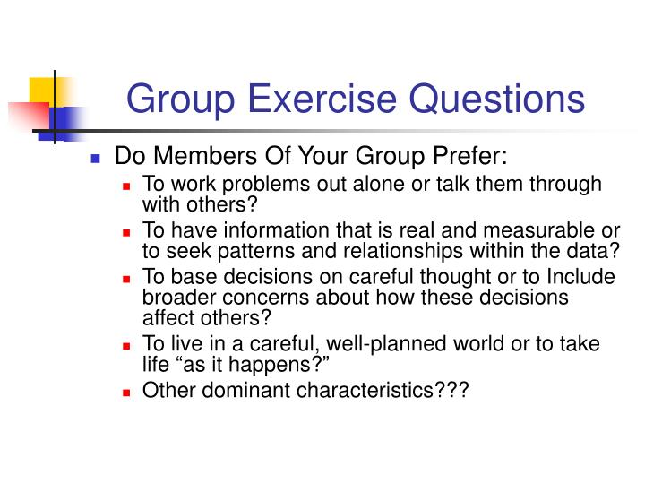 Group Exercise Questions