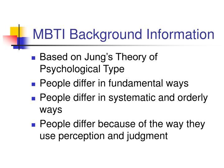MBTI Background Information
