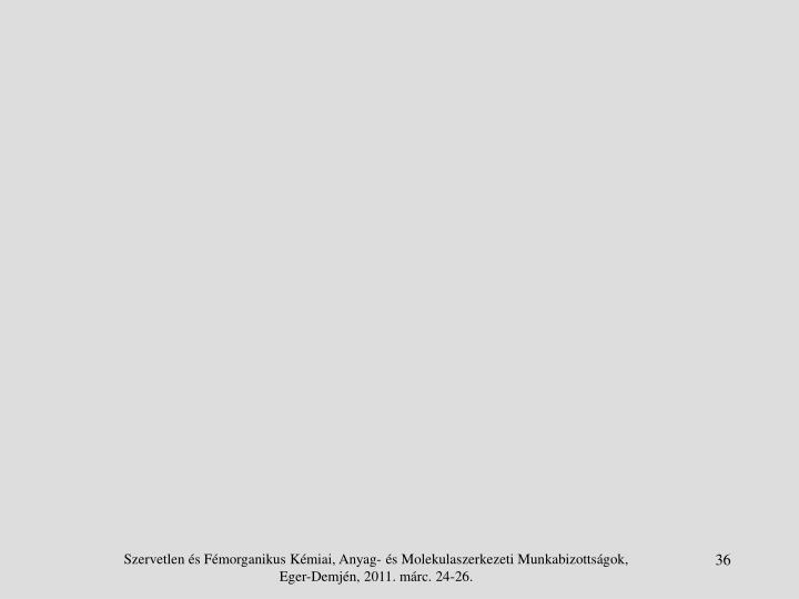 Szervetlen és Fémorganikus Kémiai, Anyag- és Molekulaszerkezeti Munkabizottságok, Eger-Demjén, 2011. márc. 24-26.