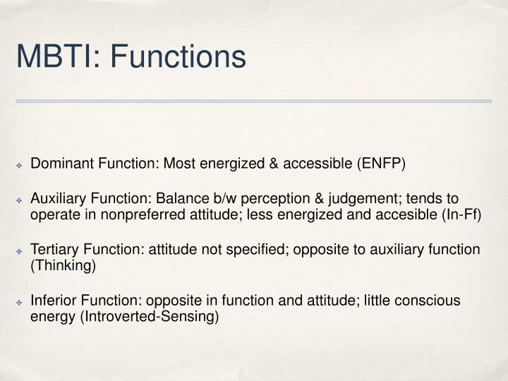 MBTI: Functions
