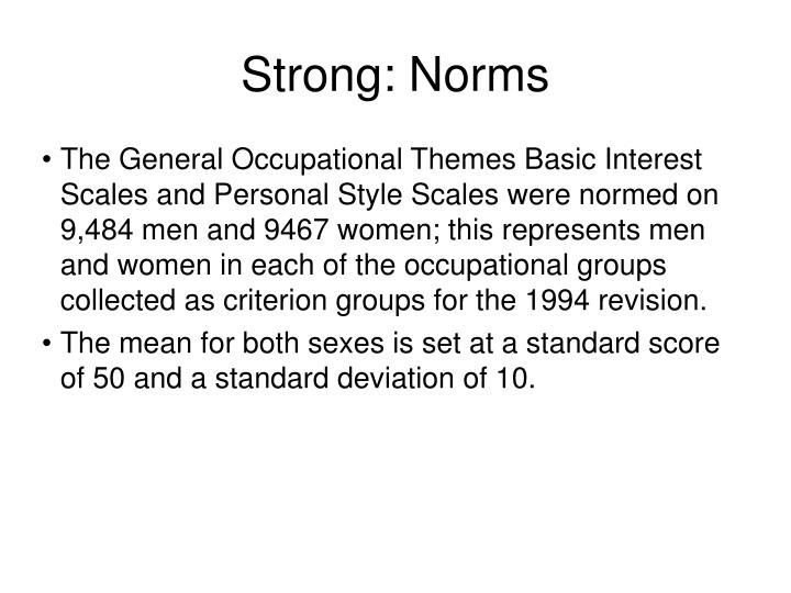 Strong: Norms