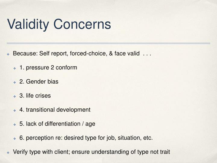 Validity Concerns