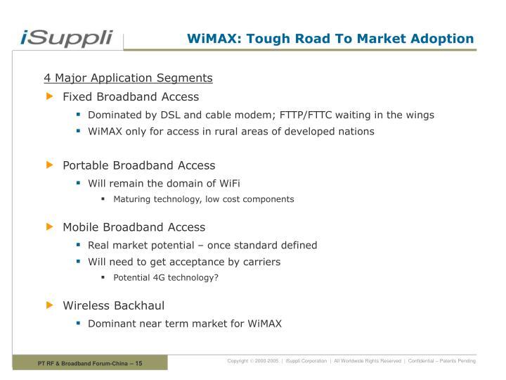 WiMAX: Tough Road To Market Adoption