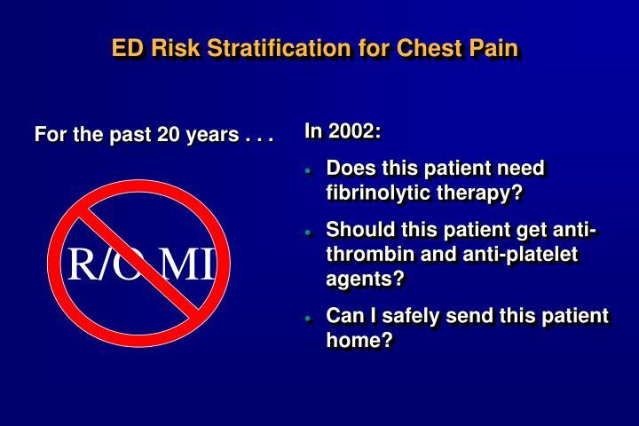 ED Risk Stratification for Chest Pain