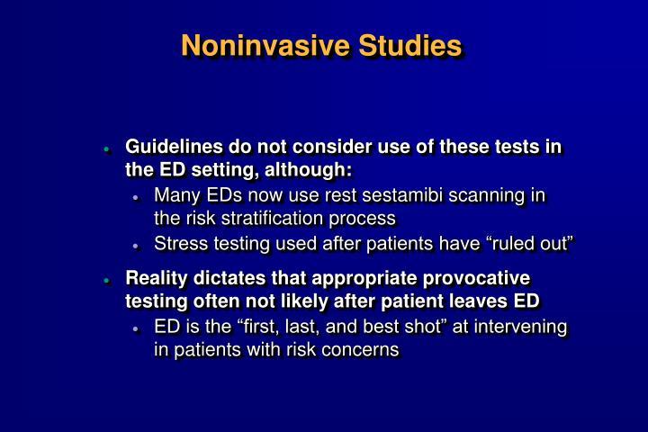 Noninvasive Studies