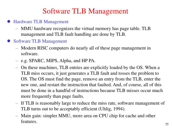 Software TLB Management