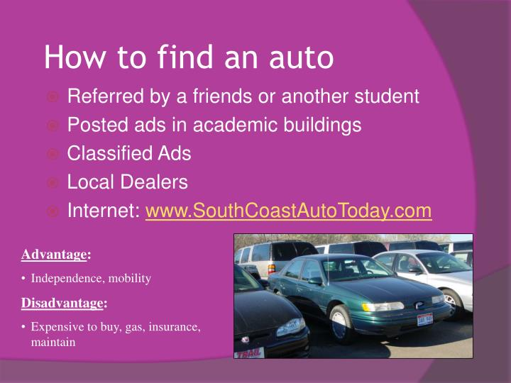 How to find an auto
