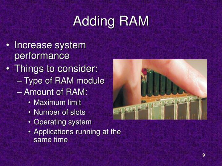 Adding RAM