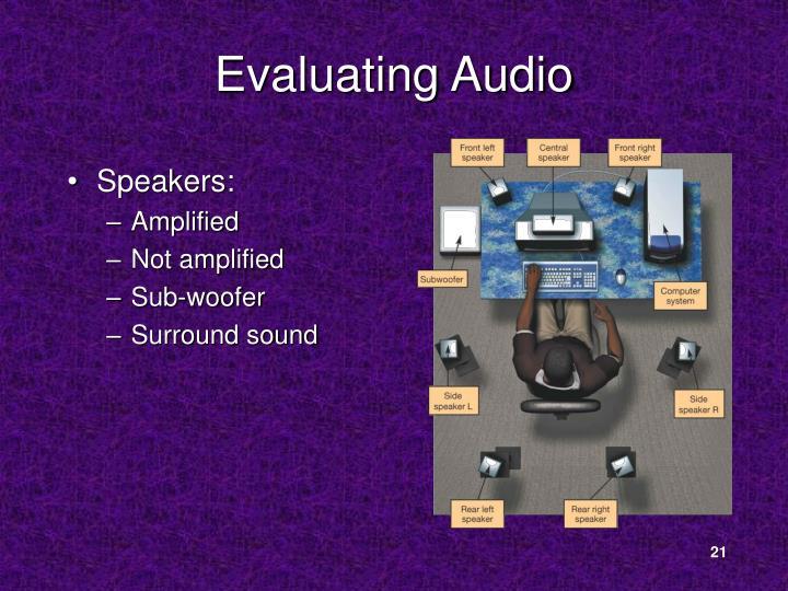 Evaluating Audio