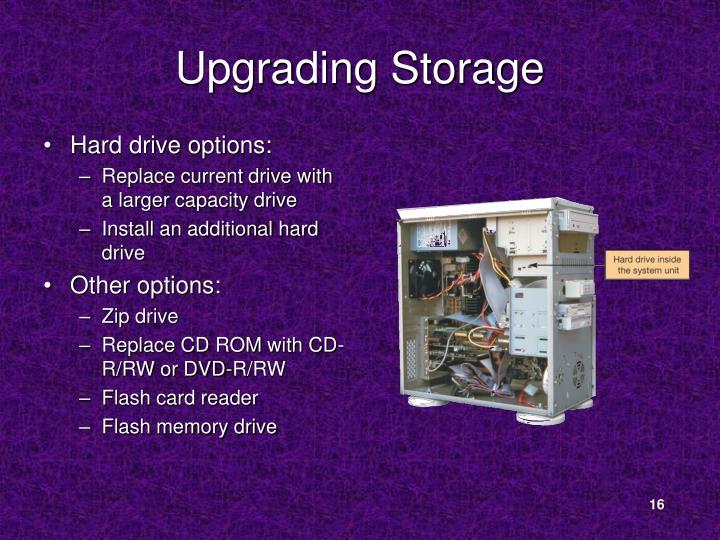 Upgrading Storage