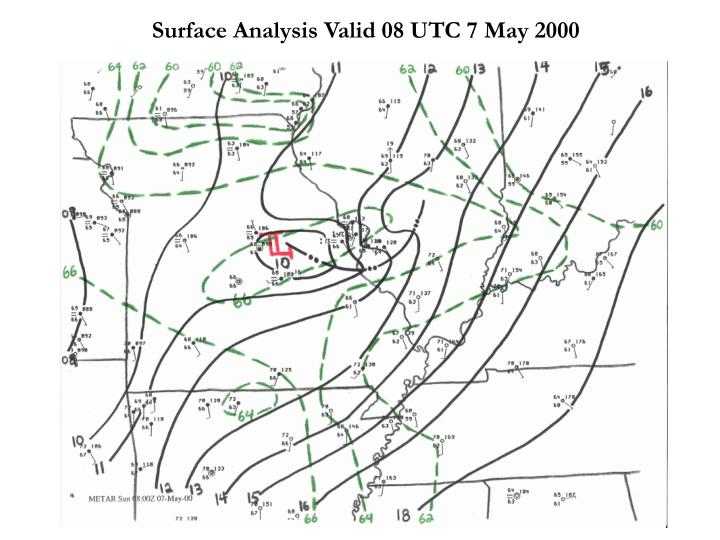 Surface Analysis Valid 08 UTC 7 May 2000