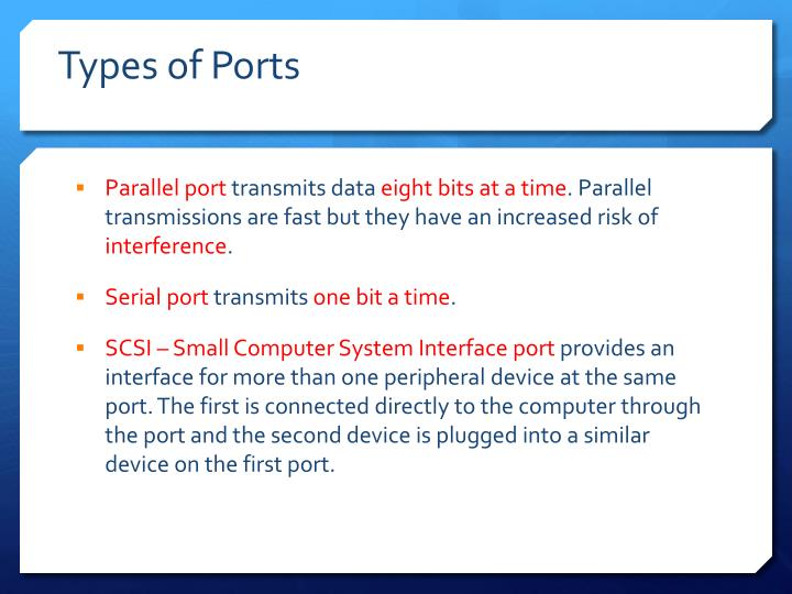 Types of Ports
