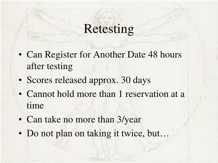 Retesting