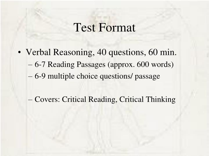 Test Format
