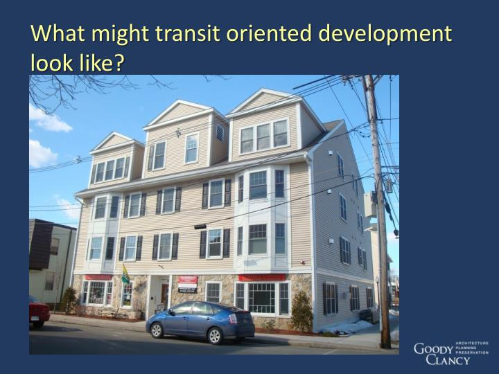 What might transit oriented development look like?
