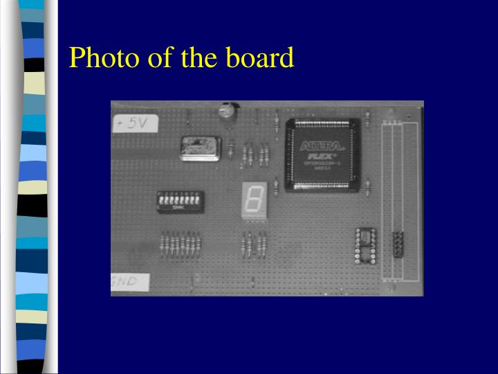 Photo of the board