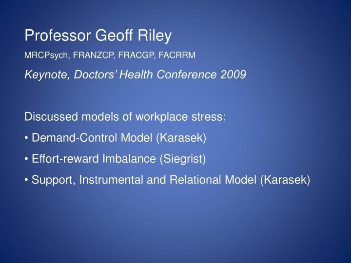 Professor Geoff Riley