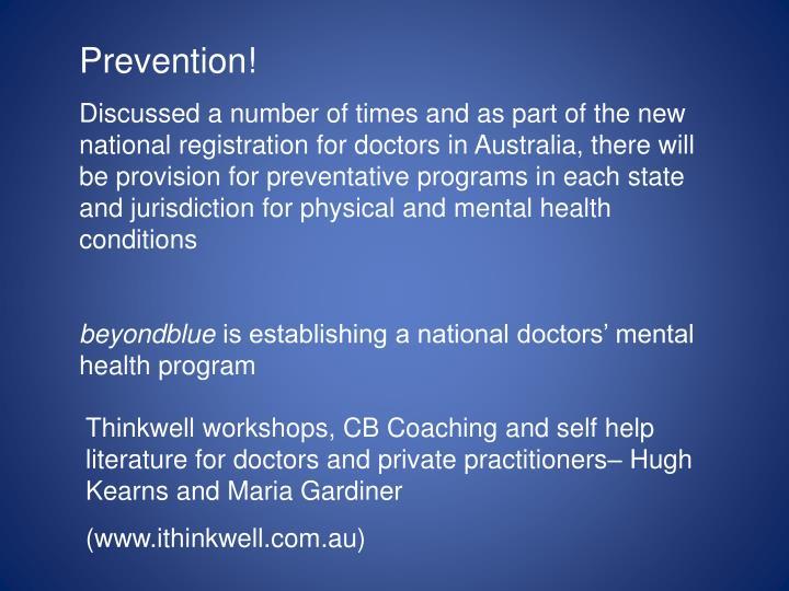 Prevention!