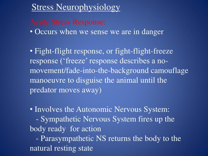 Stress Neurophysiology