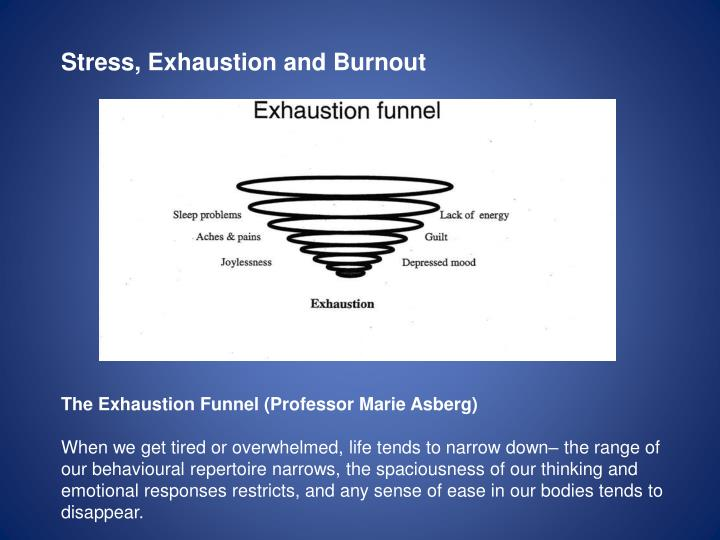 Stress, Exhaustion and Burnout